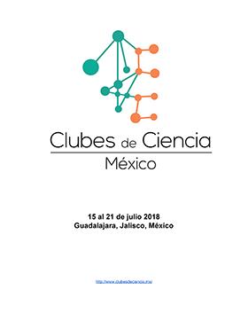 Cartel informativo sobre Clubes de Ciencia México, Del 15 al 21 de julio en el  Auditorio Enrique Díaz de León, CUCEI