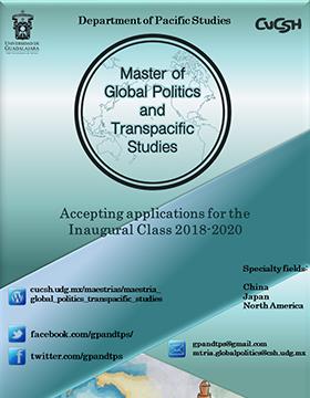 Cartel informativo sobre el Master of Global Politics and Transpacific Studies