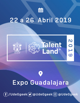 Cartel informativo sobre como Ganar una beca para participar en Talent Land. Acude a nuestro Talent Day, el 16 de marzo, a las 10:30 horas en el Cineforo de la Universidad de Guadalajara