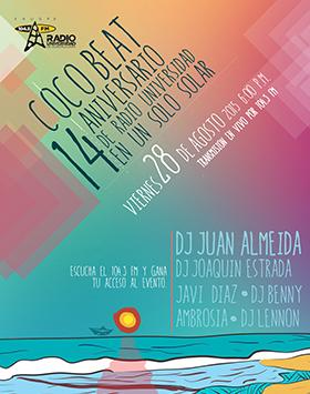 COCOBEAT.14 aniversario de Radio Universidad
