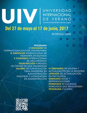 Cartel con texto informativo del programa de actividades de la  Universidad Internacional de Verano de Culagos, a llevarse del 27 de mayo al 17 de junio, con entrada libre.