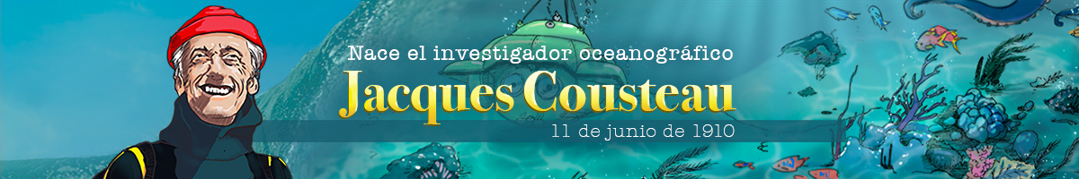 Ilustración dedicada al explorador submarino francés Jacques-Yves Cousteau