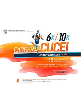 Cartel con texto del evento y dibujo de un maratonista