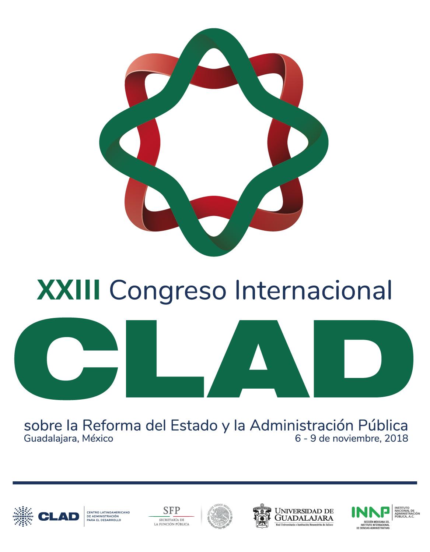 Cartel informativo sobre el XXIII Congreso Internacional del CLAD sobre la Reforma del Estado y de la Administración Pública del 6 al 9 de noviembre