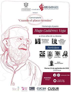 Homenaje al poeta Hugo Gutiérrez Vega a cinco años de su deceso