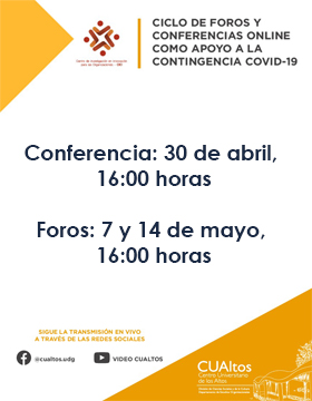Ciclos de foros y conferencias online como apoyo a la contingencia COVID-19