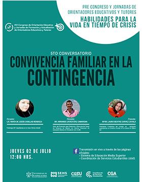 Quinto Conversatorio: Convivencia familiar en la contingencia
