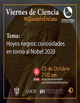 Conferencia: Hoyos negros: Curiosidades en tono al Nobel 2020