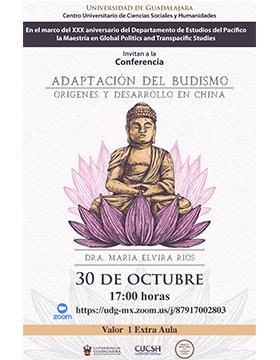 Conferencia: Adaptación del budismo. Orígenes y desarrollo en China
