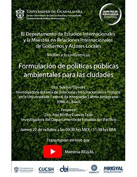 Conferencia: Formulación de políticas públicas ambientales para las ciudades