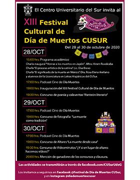 XIII Festival Cultural de Día de Muertos del Centro Universitario del Sur
