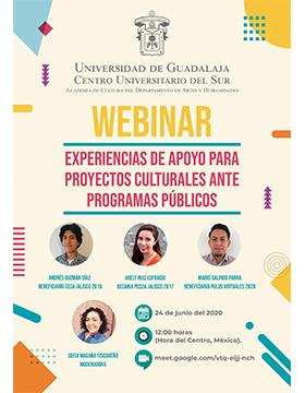 Webinar: Experiencias de apoyo para proyectos culturales ante programas públicos