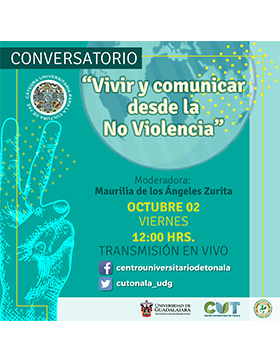 Conversatorio: Vivir y comunicar desde la No Violencia