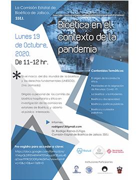 Coloquio virtual: Bioética en el contexto de la pandemia