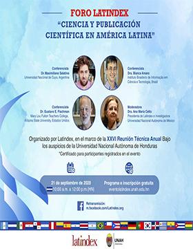 Foro Latindex: Ciencia y publicación científica en América Latina