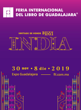 Cartel para promocionar la Feria Internacional del Libro de Guadalajara 2019