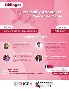 Diálogo: Prevenir y afrontar el cáncer de mama