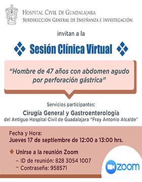 Sesión clínica virtual