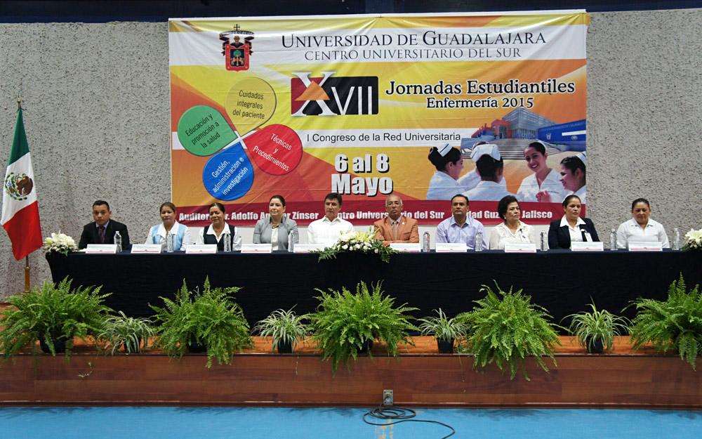 Presidium de XVII Jornadas y el I Congreso Estudiantil de Enfermería
