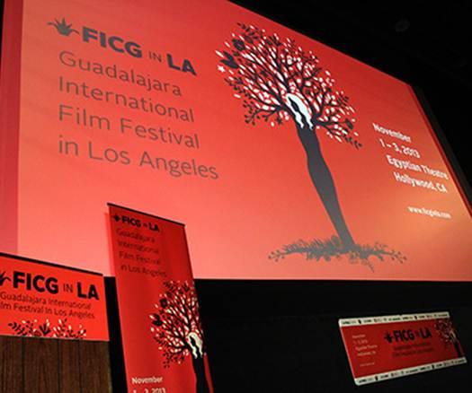 Cartel informativo del El Festival Internacional de Cine en Guadalajara en Los Ángeles