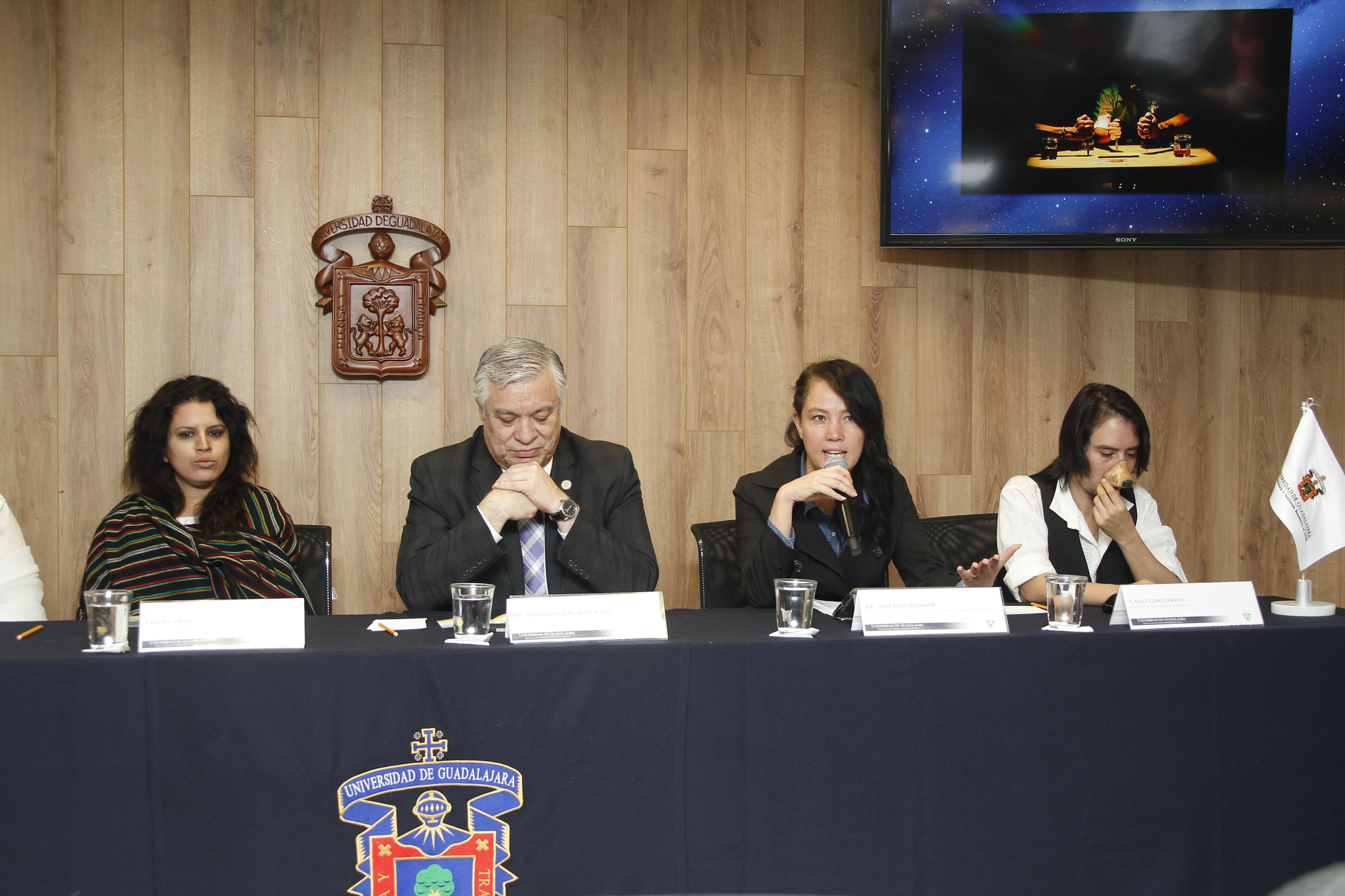 Participantes a la rueda de prensa del Festival Cultural de Otoño, CULagos.