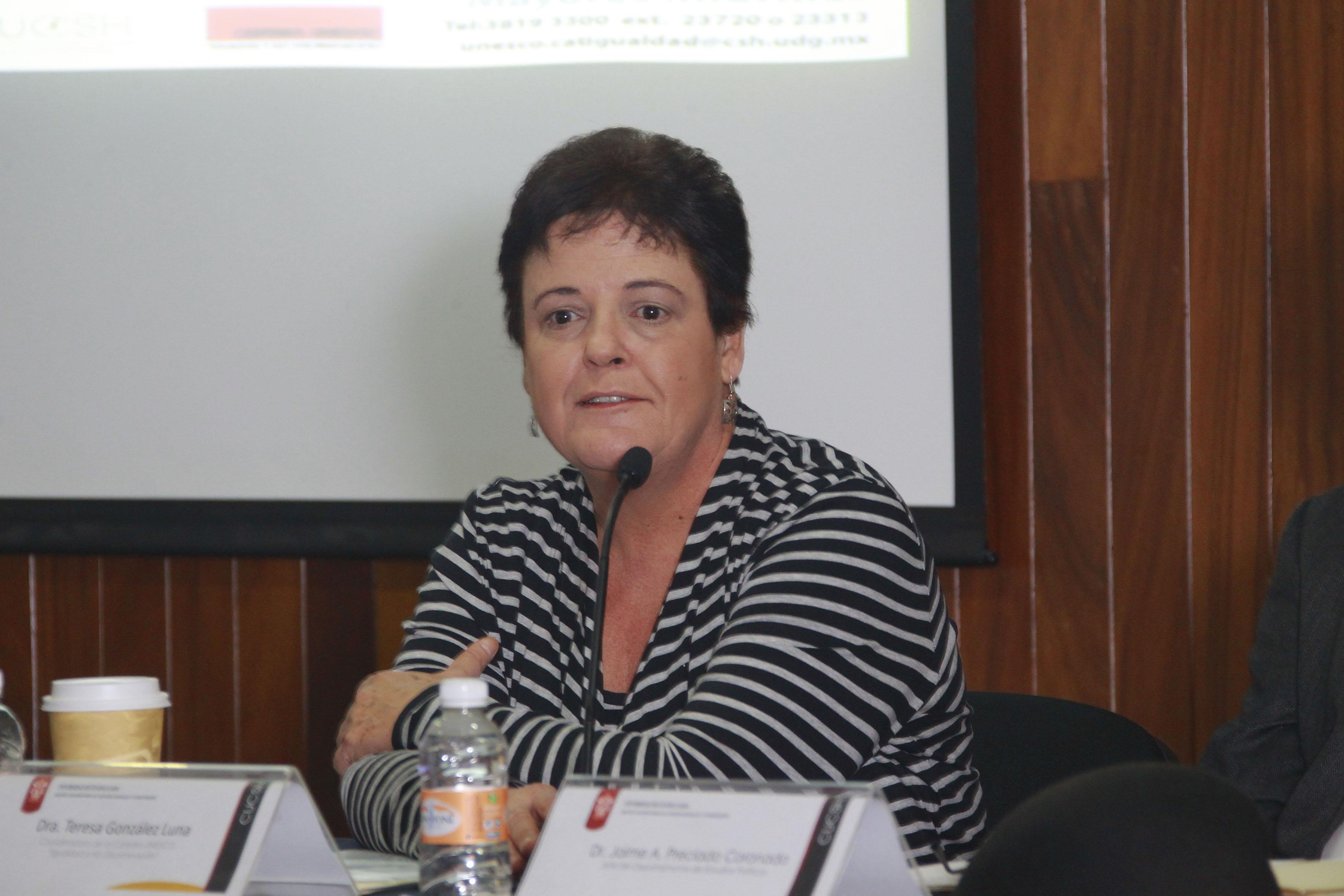 """Doctora Teresa González Luna, coordinadora de la Cátedra UNESCO """"Igualdad y no discriminación"""""""