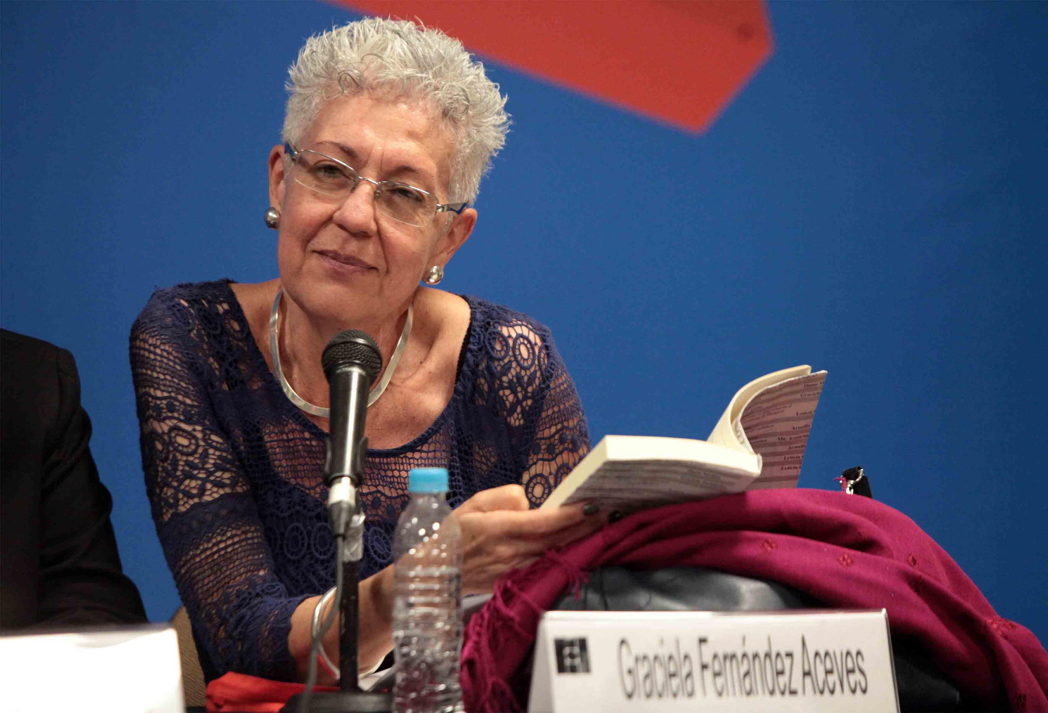 """Graciela Fernández Aceves participando en la presentación de la novela """"Doña Cuca"""""""