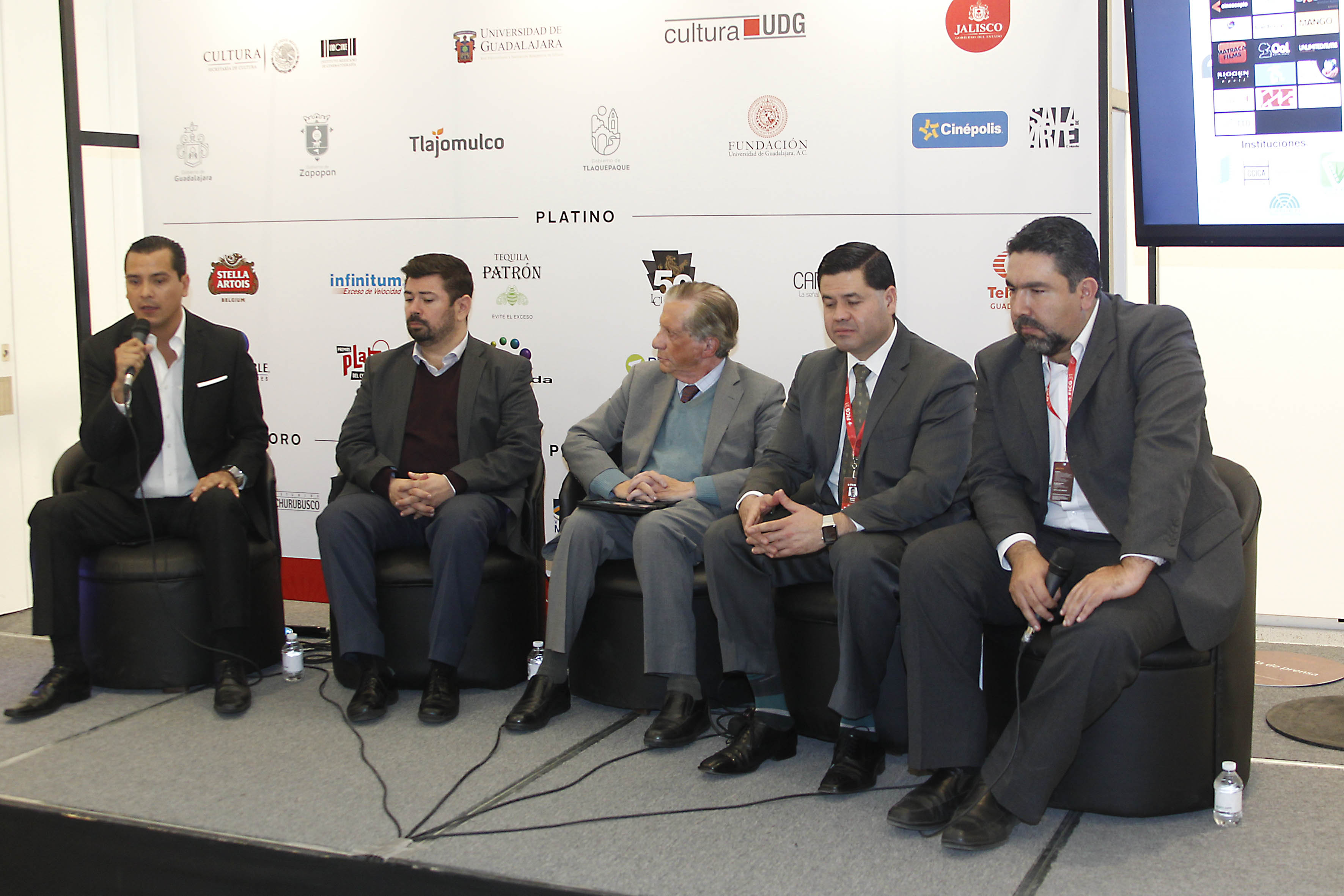 Presidium en la presentación de la Asociación Jalisciense de Industrias Creativas AC