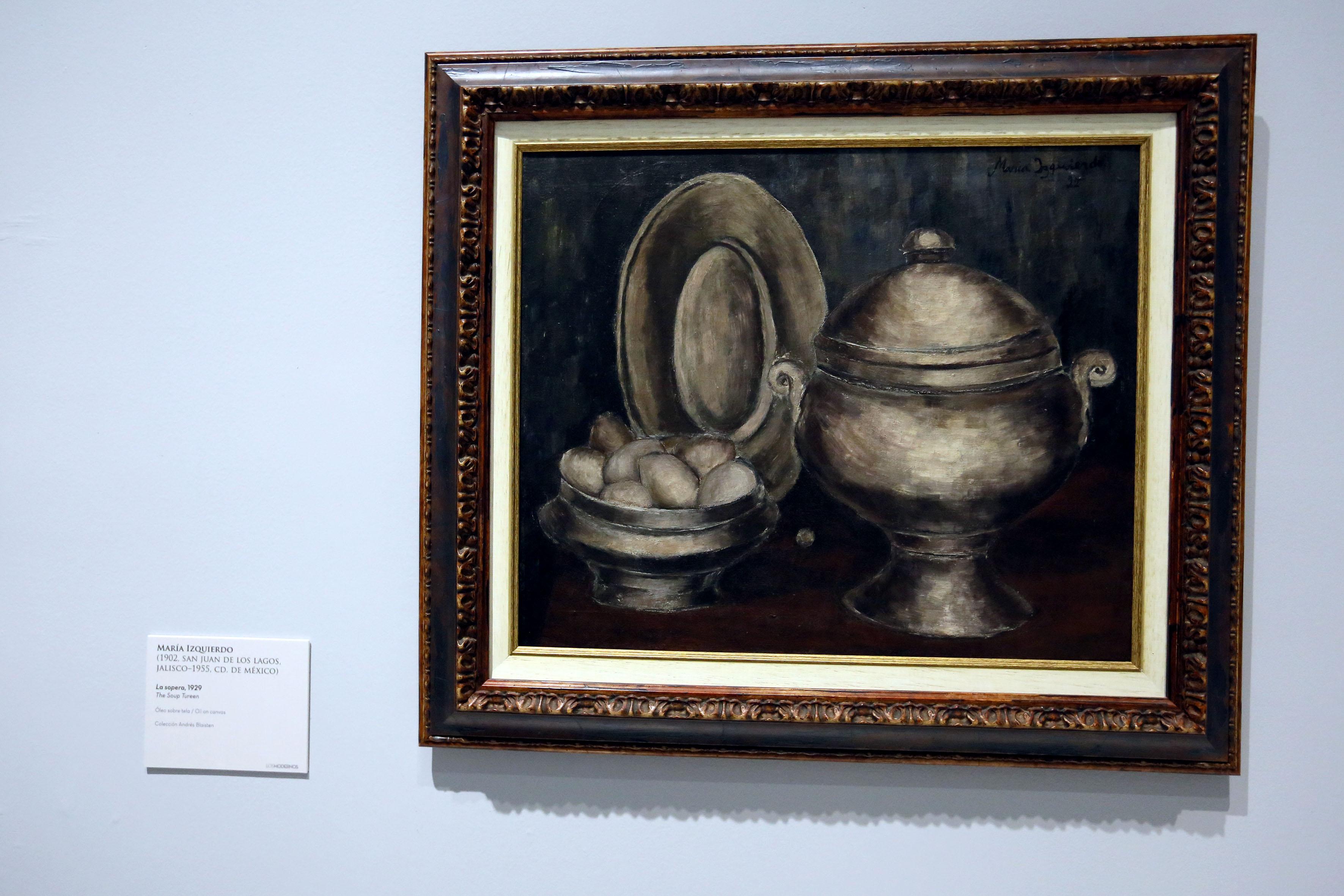 """Obra pictorica expuesta en la exposición de """"Los Modernos"""""""