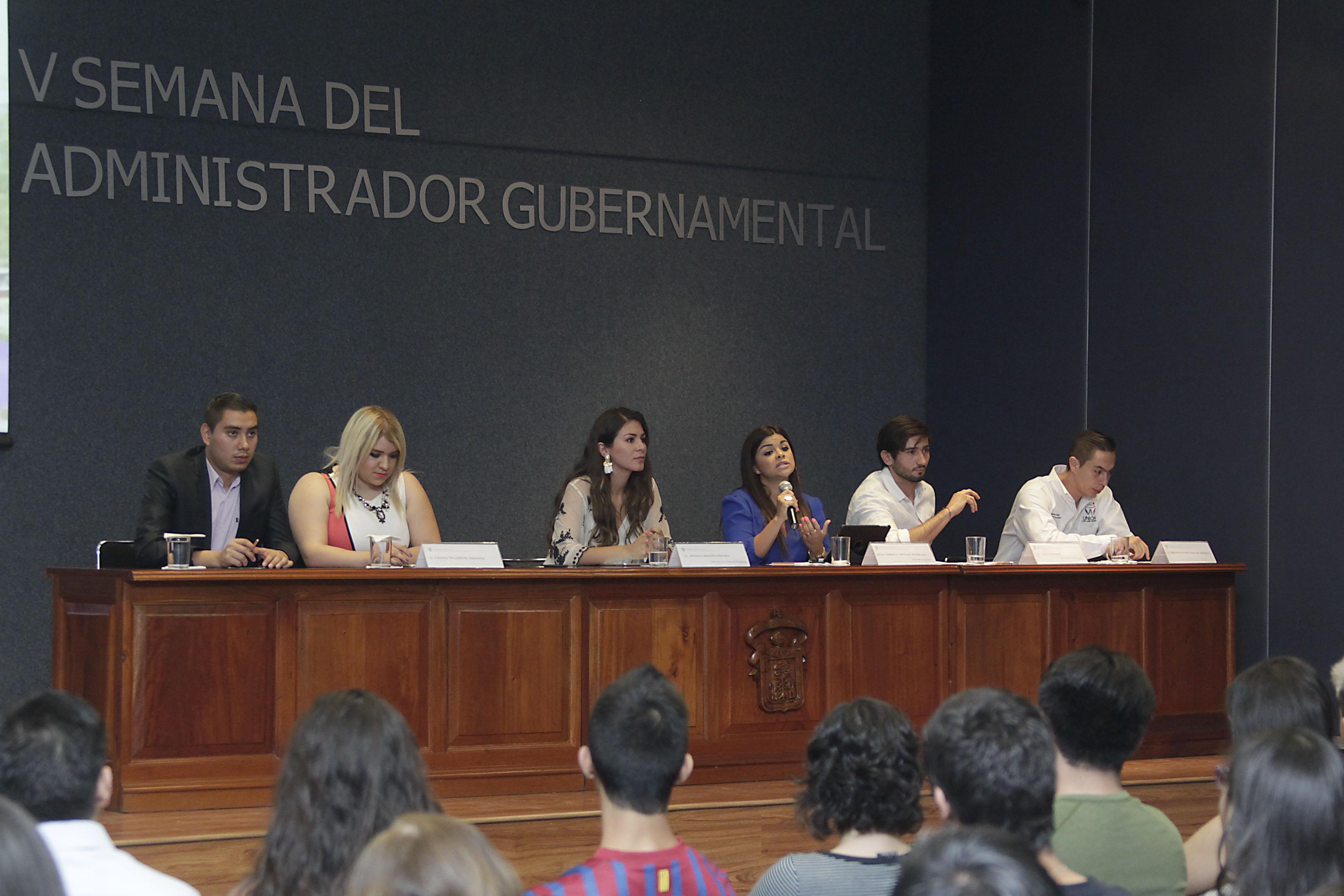 """Conferencia """"Retos de la administración gubernamental en Zapopan"""" en la V  Semana del Administrador Gubernamental que organiza el Centro Universitario de Ciencias Económico Administrativas (CUCEA), de la Universidad de Guadalajara"""