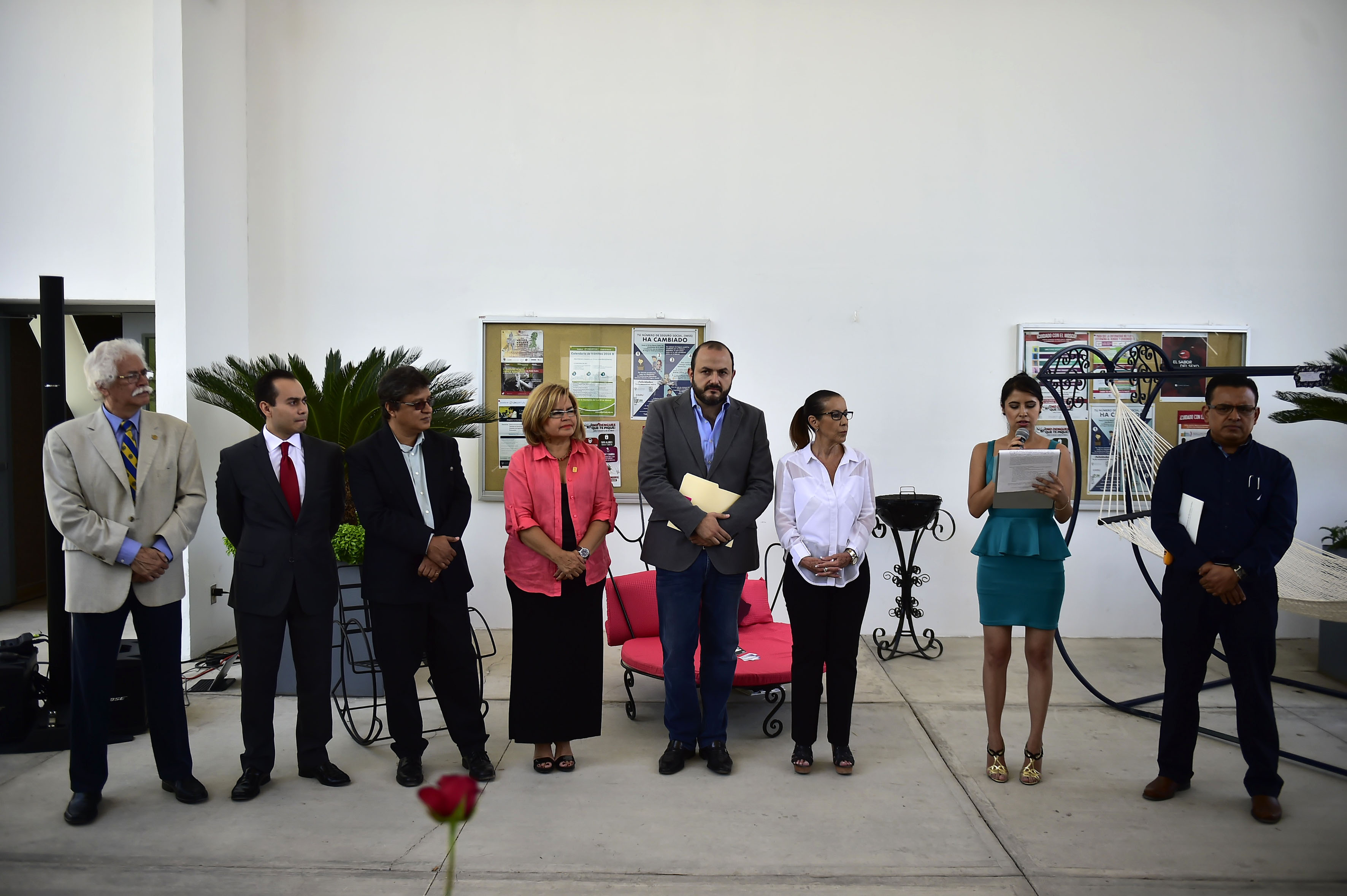 Discurso inaugural de la Feria de Diseño de Artesanía (Feriada), en la explanada del centro.