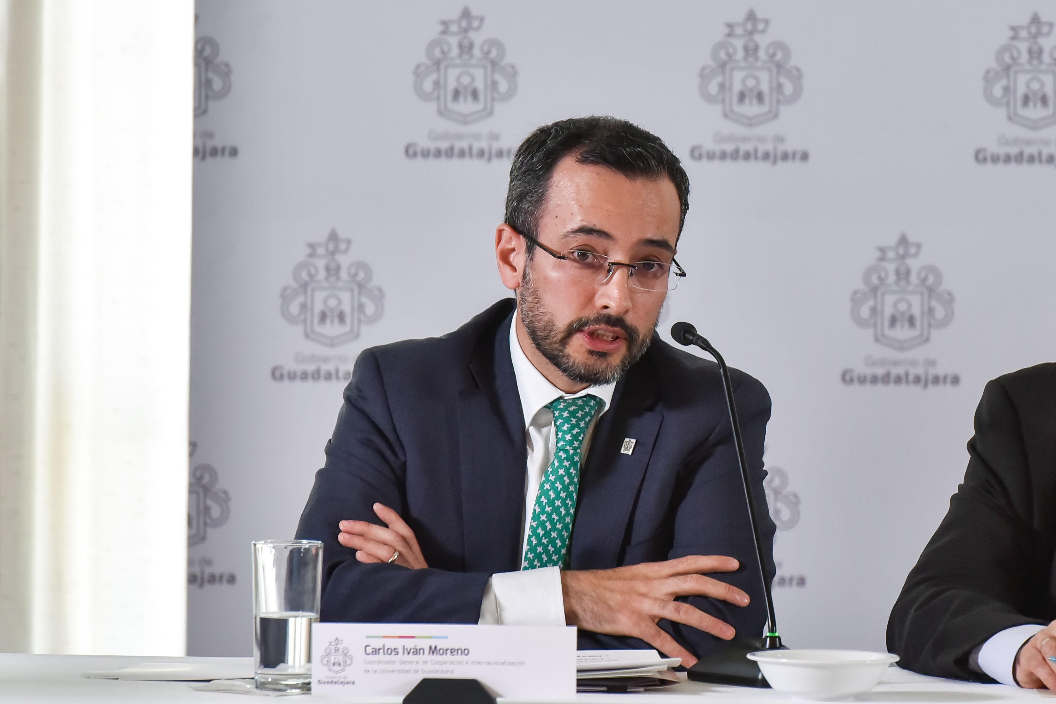 Coordinador general de Cooperación e Internacionalización (CGCI), doctor Carlos Iván Moreno Arellano