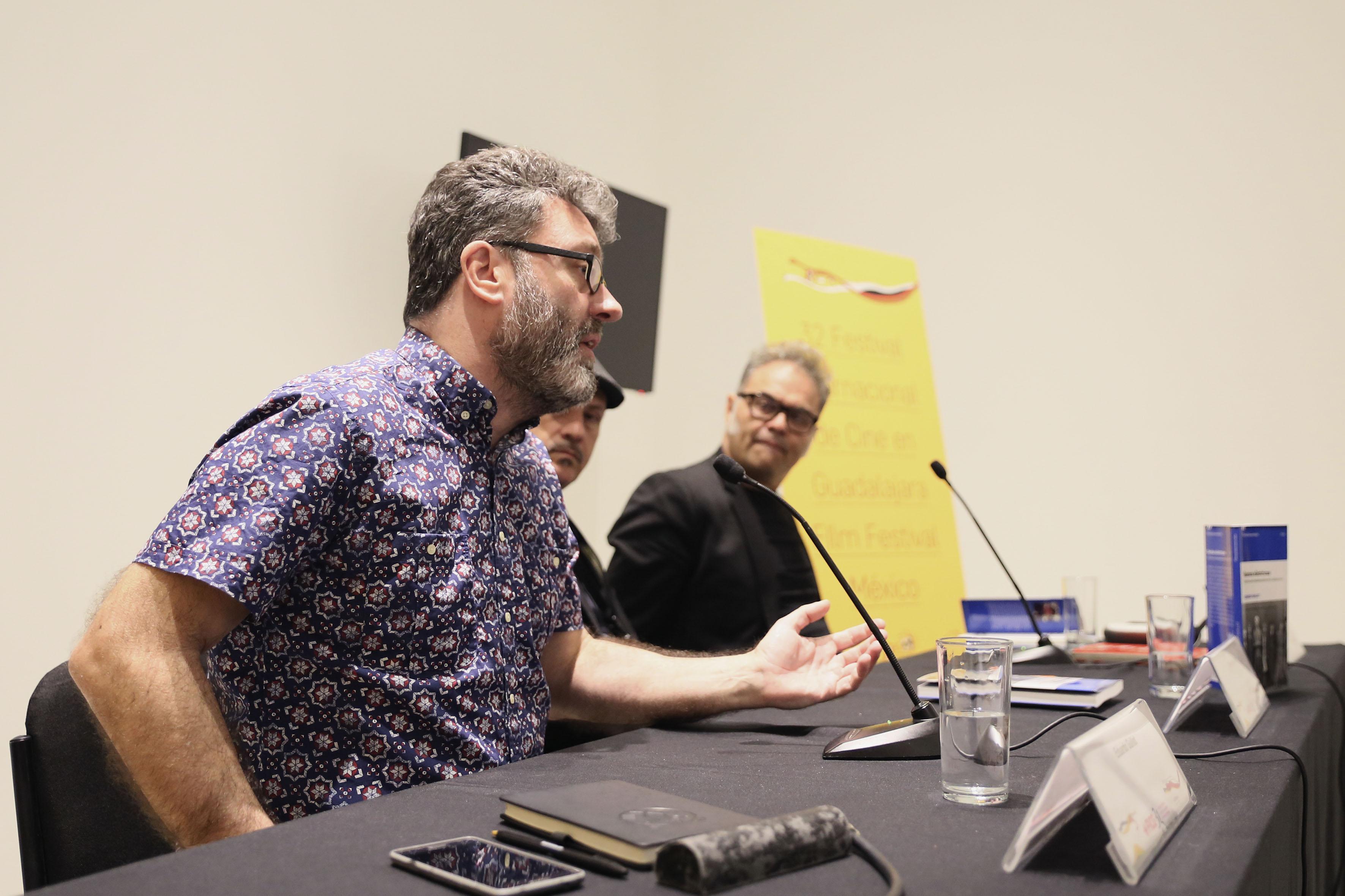 Periodista Enrique Blanc y el integrante de Café Tacvba, Joselo Rangel