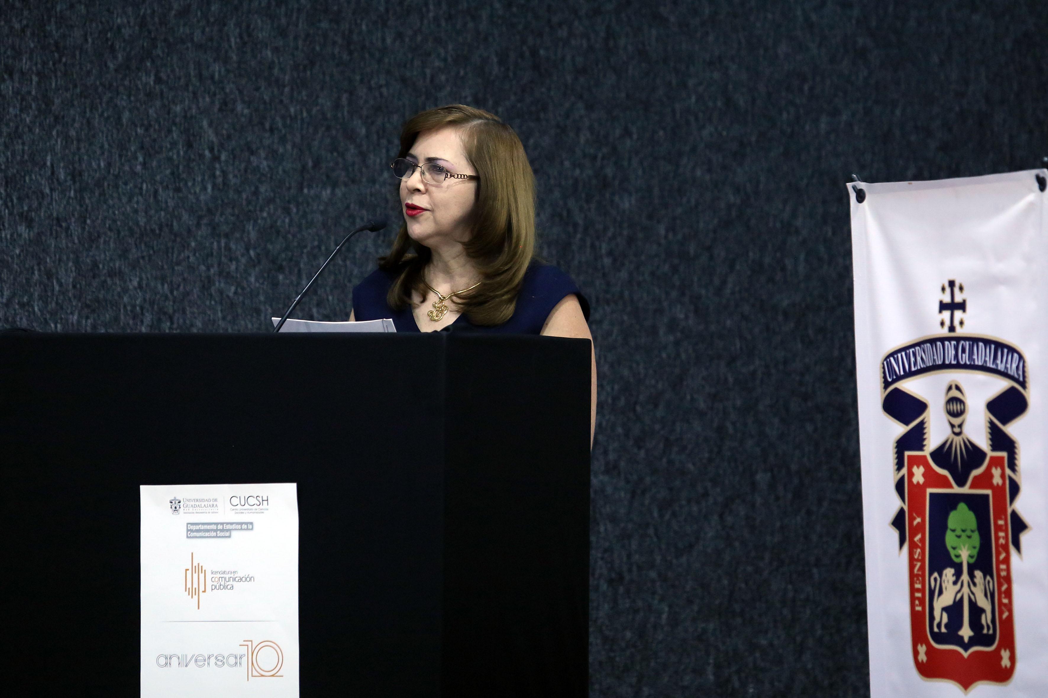 Profesora investigadora del DECS y primera coordinadora de la licenciatura, doctora María Elena Hernández Ramírez