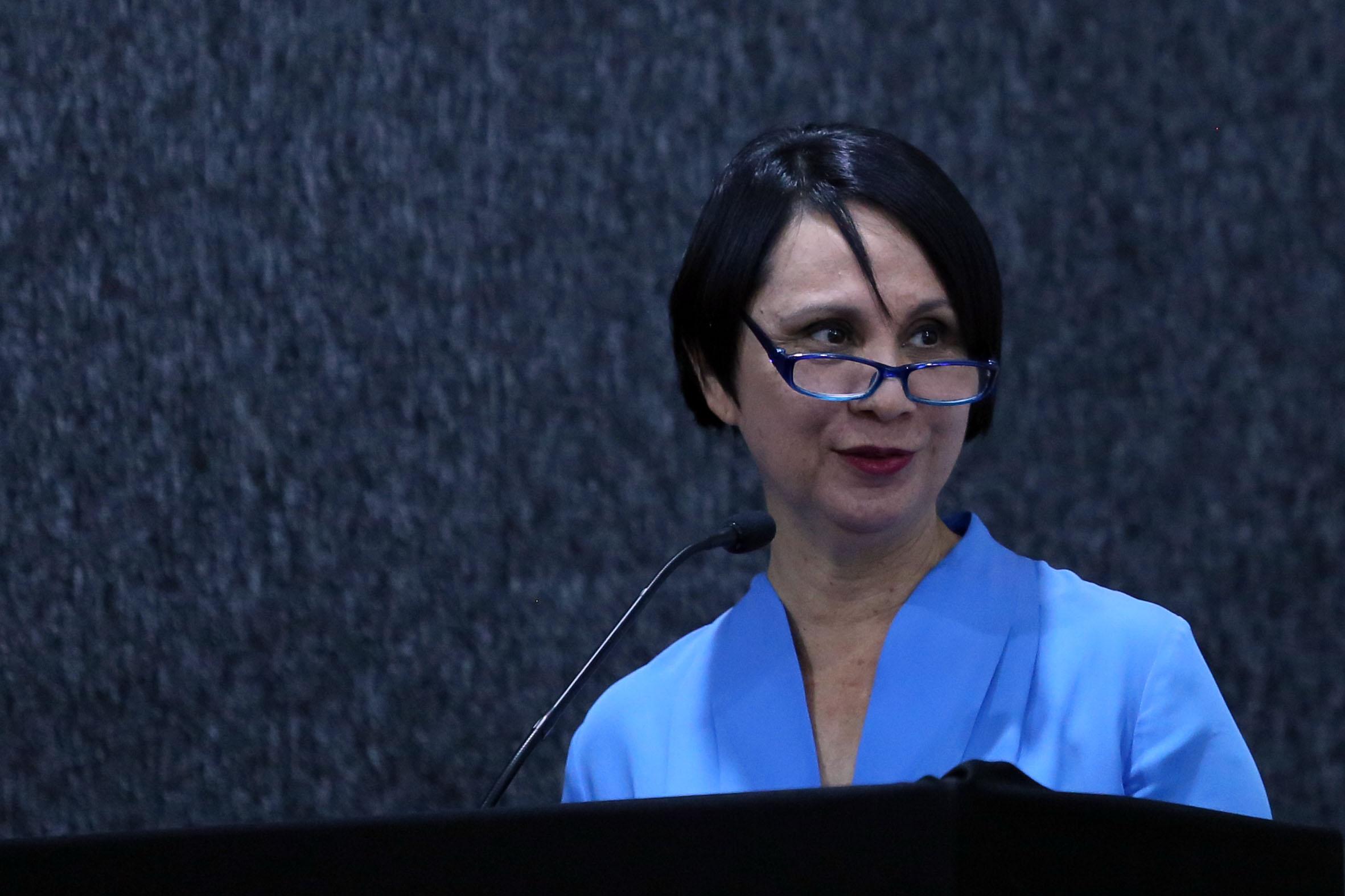 Directora de la División de Estudios de la Cultura, doctora Dulce María Zúñiga, en representación del Rector del CUCSH, doctor Héctor Raúl Solís Gadea