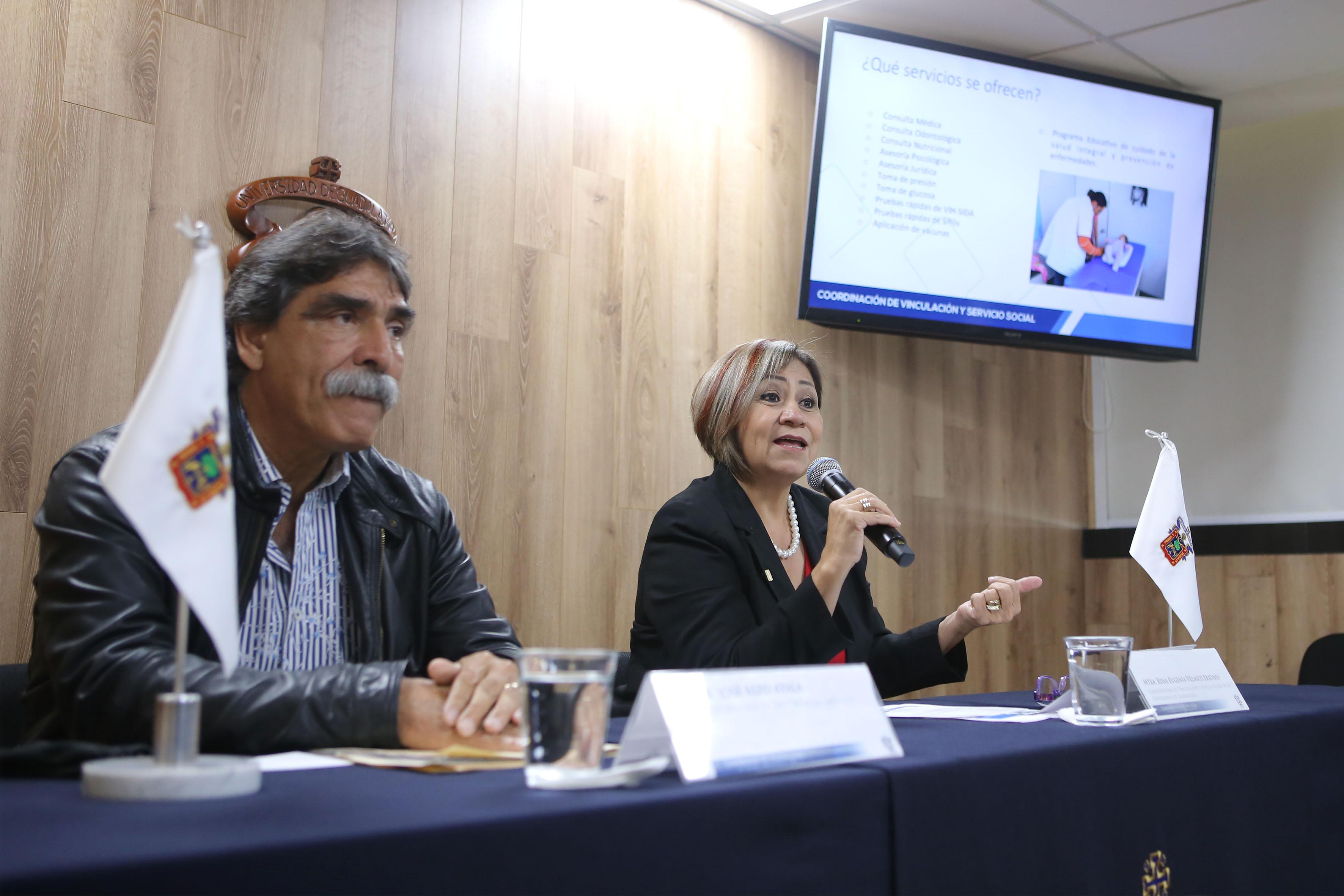 Rueda de prensa para presentar avances de las Brigadas Móviles de Atención Comunitaria, organizada por la Unidad de Servicio Social, adscrita a la Coordinación de Vinculación de Servicio Social (CVSS).