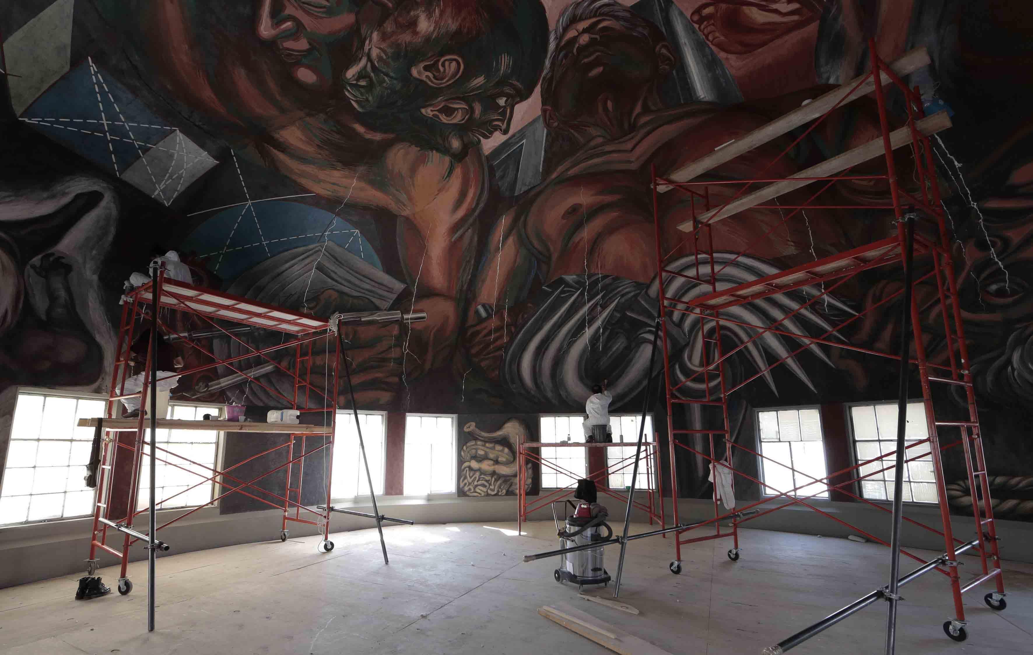 Restauración de los murales de José Clemente Orozco en el Paraninfo Enrique Díaz de León de la Universidad de Guadalajara