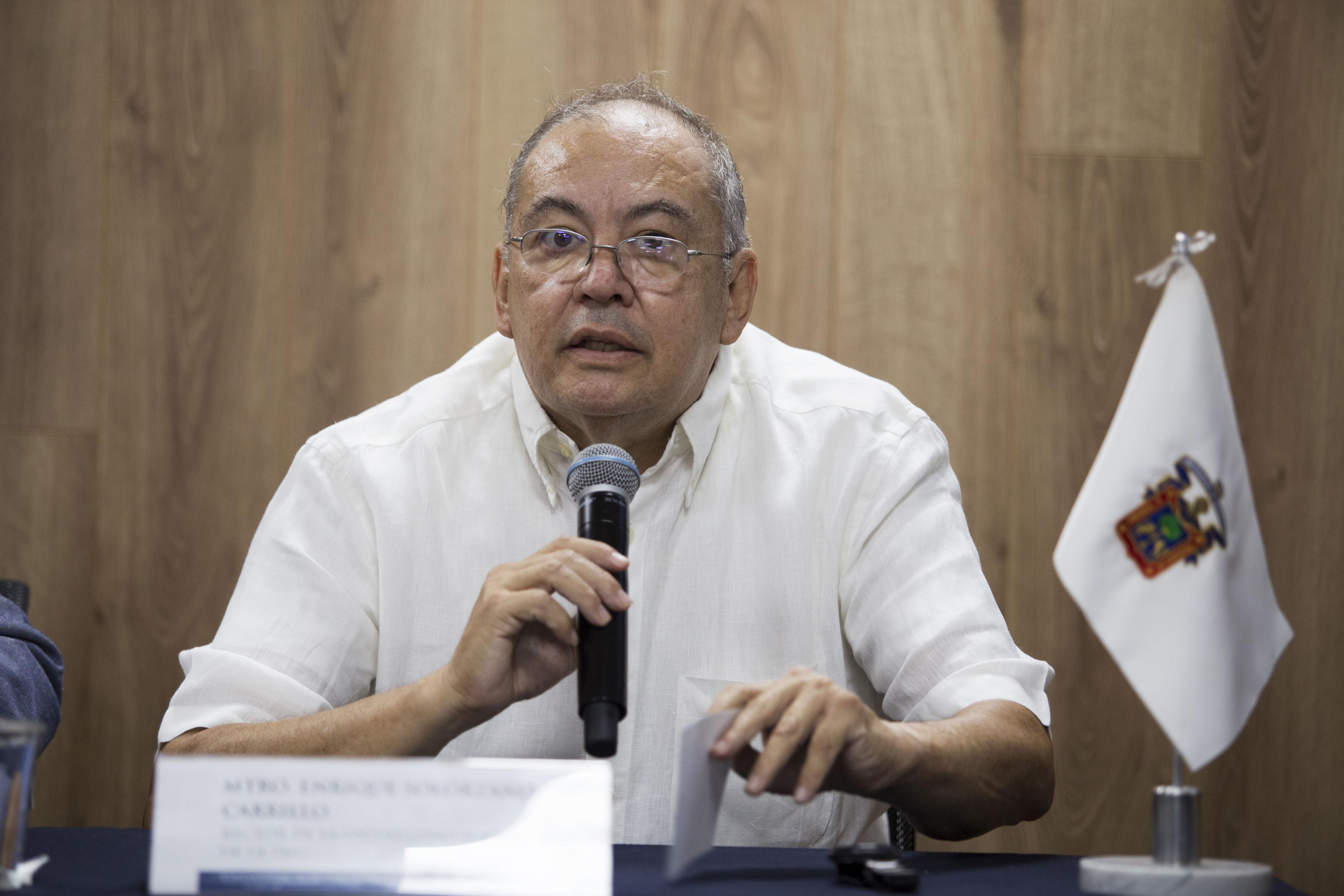 Rector de la Universidad Politécnica de la Zona Metropolitana de Guadalajara, maestro Enrique Solórzano Carrillo