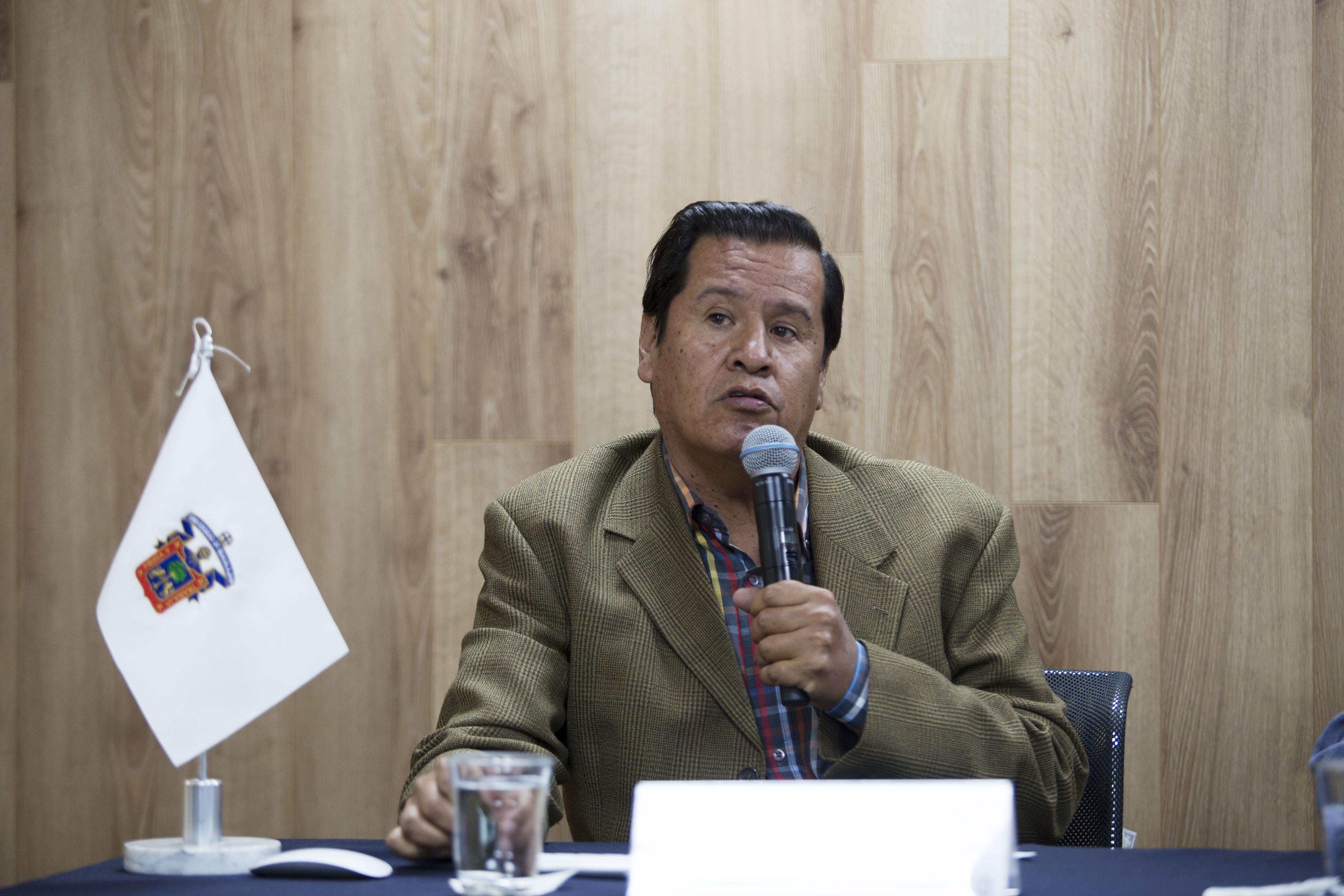 Director de Gestión Ambiental de Tlajomulco, Miguel Ángel León Corrales haciendo uso de la palabra
