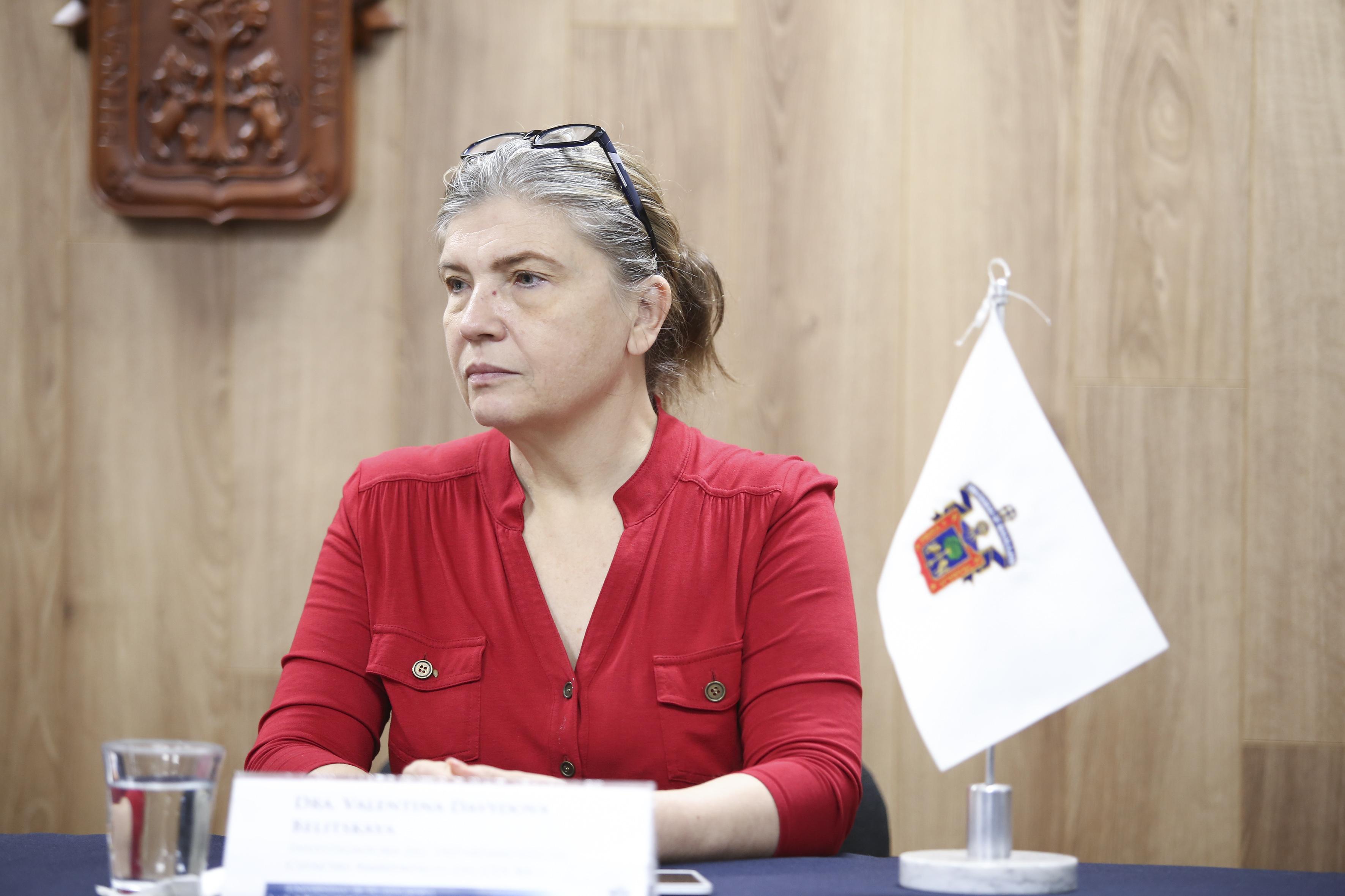 Doctora Valentina Davydova Belitskaya, académica del CUCBA e investigadora del Departamento de Ciencias Ambientales de la Universidad de Guadalajara.