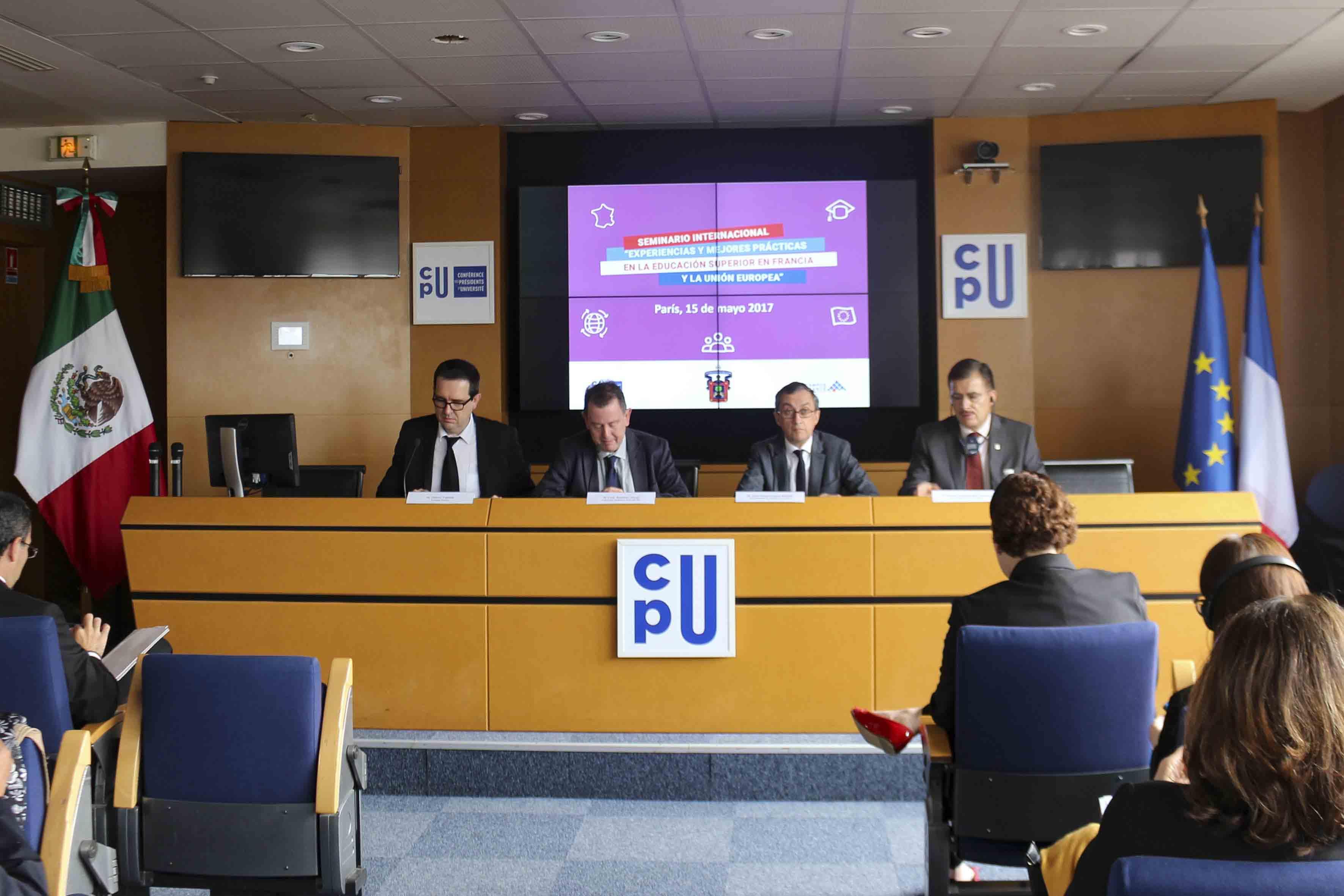 """Seminario """"Experiencias y mejores prácticas en la educación superior de Francia"""""""