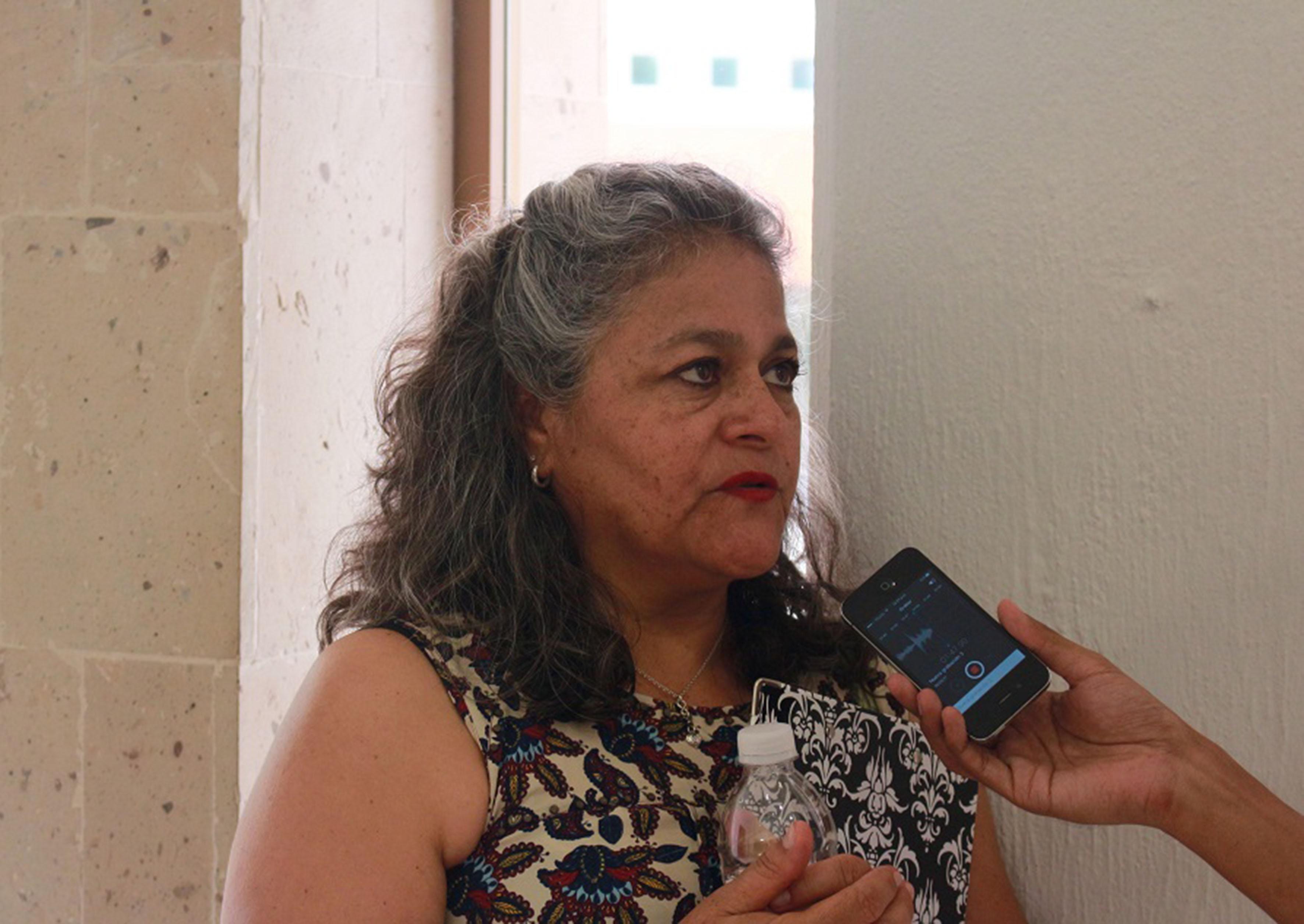 Doctora María del Carmen Cortés Lara, profesora de la licenciatura de Biología, en entrevista.