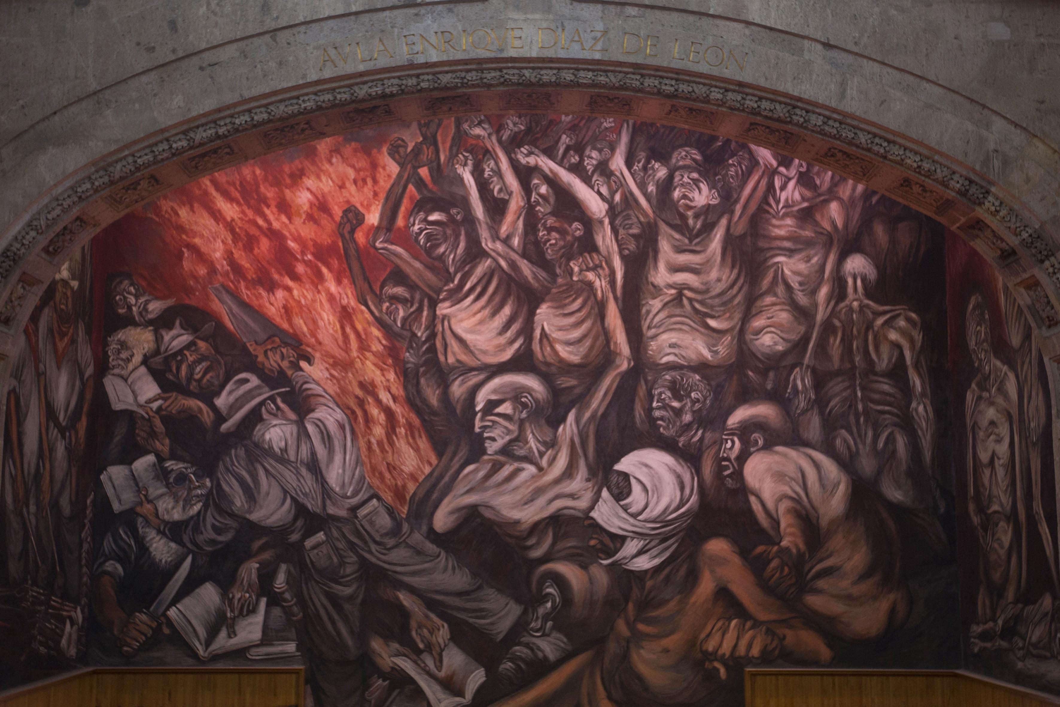 mural del paraninfo los falsos líderes