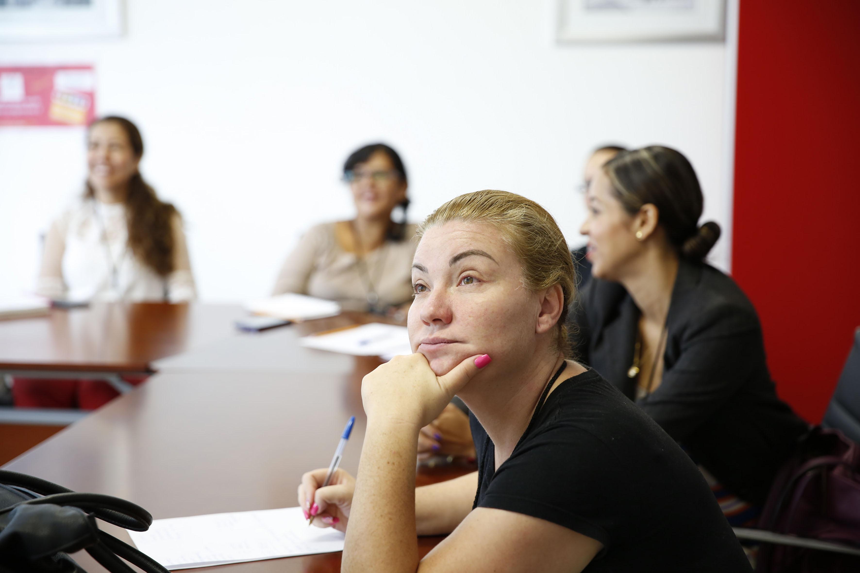 Profesores participantes en la segunda capacitación del programa de preparatorias globales.