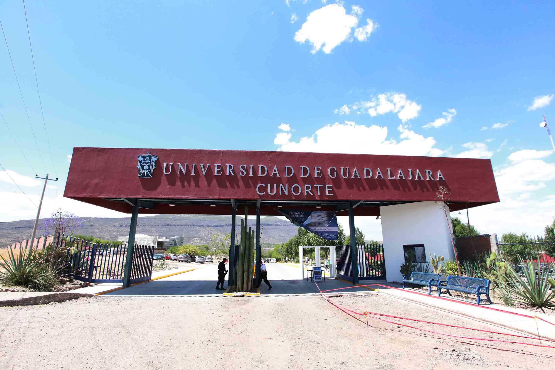Entrada al  Centro Universitario del Norte (CUNorte), de la Universidad de Guadalajara (UdeG)