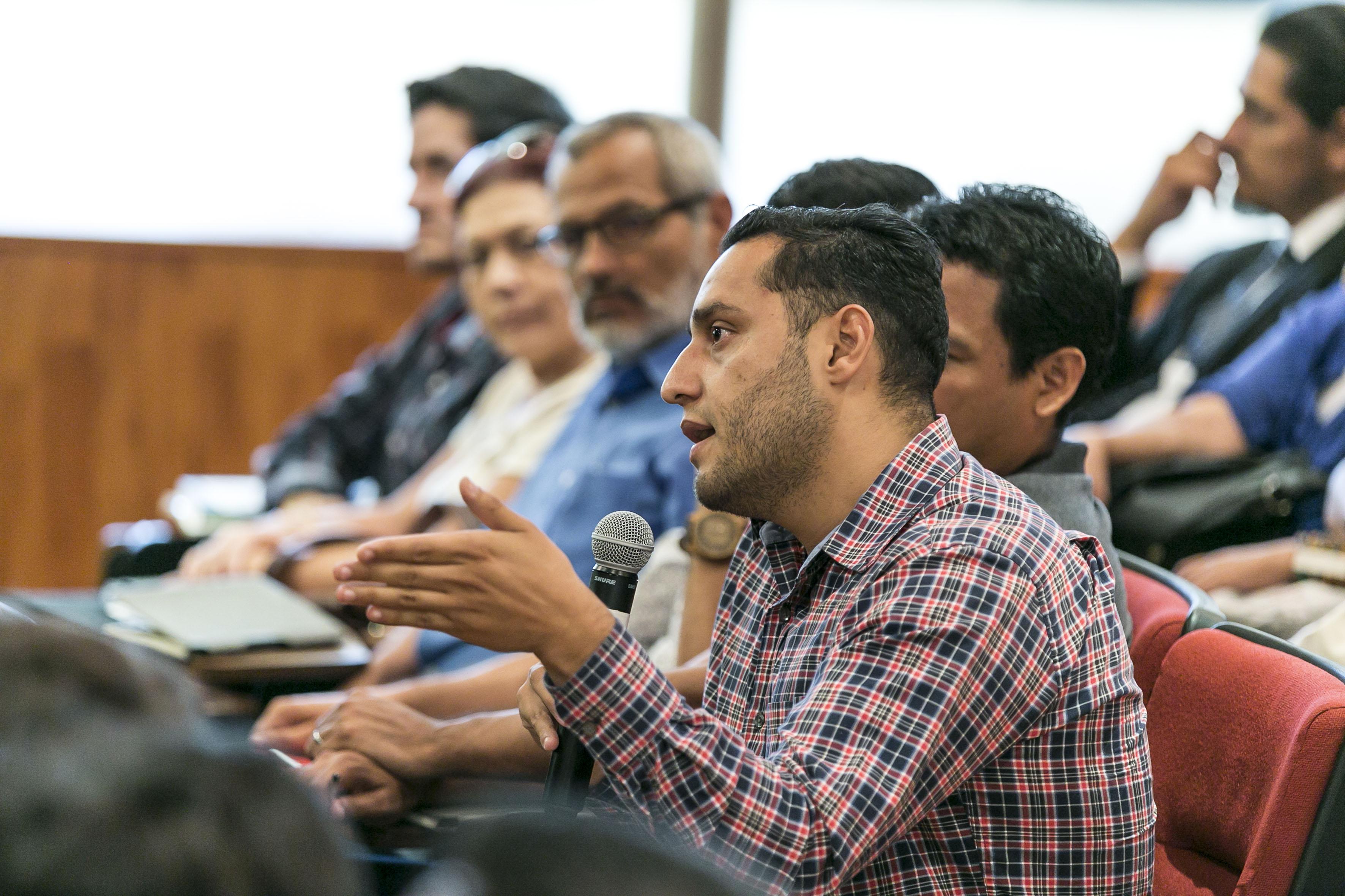 Publico asistente a la Conferencia a profesores del Sistema de Educación Media Superior (SEMS), de la Universidad de Guadalajara (UdeG).