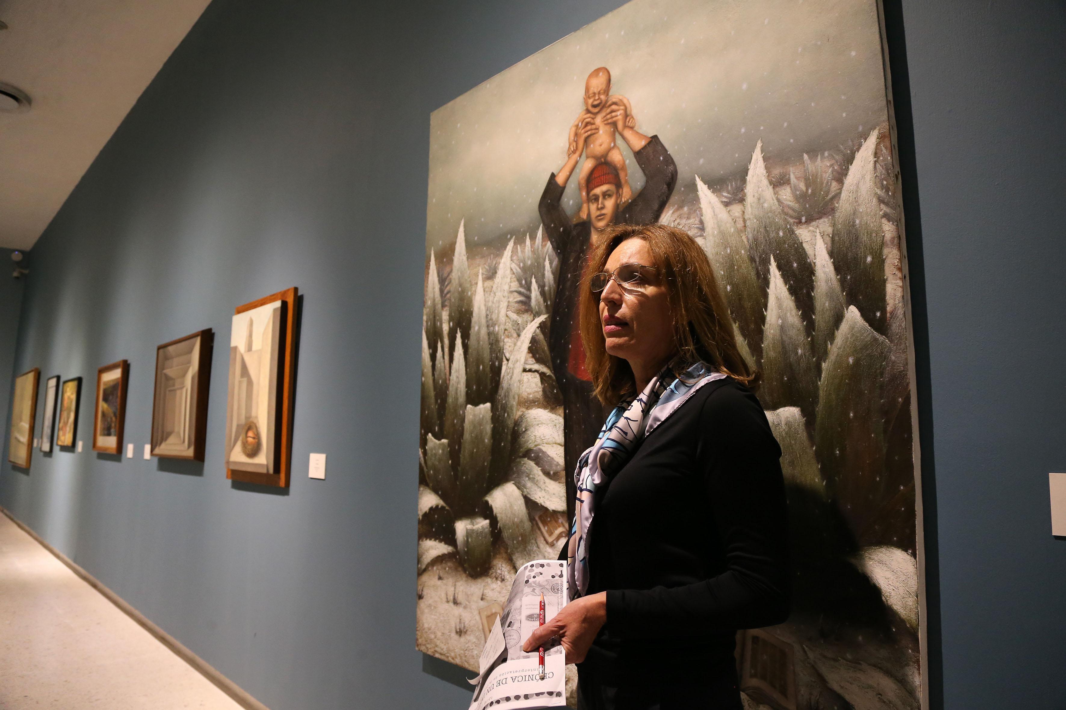 Curadora de la muestra y coordinadora de Exposiciones y Educación del MUSA, licenciada Laura Ayala Castellanos