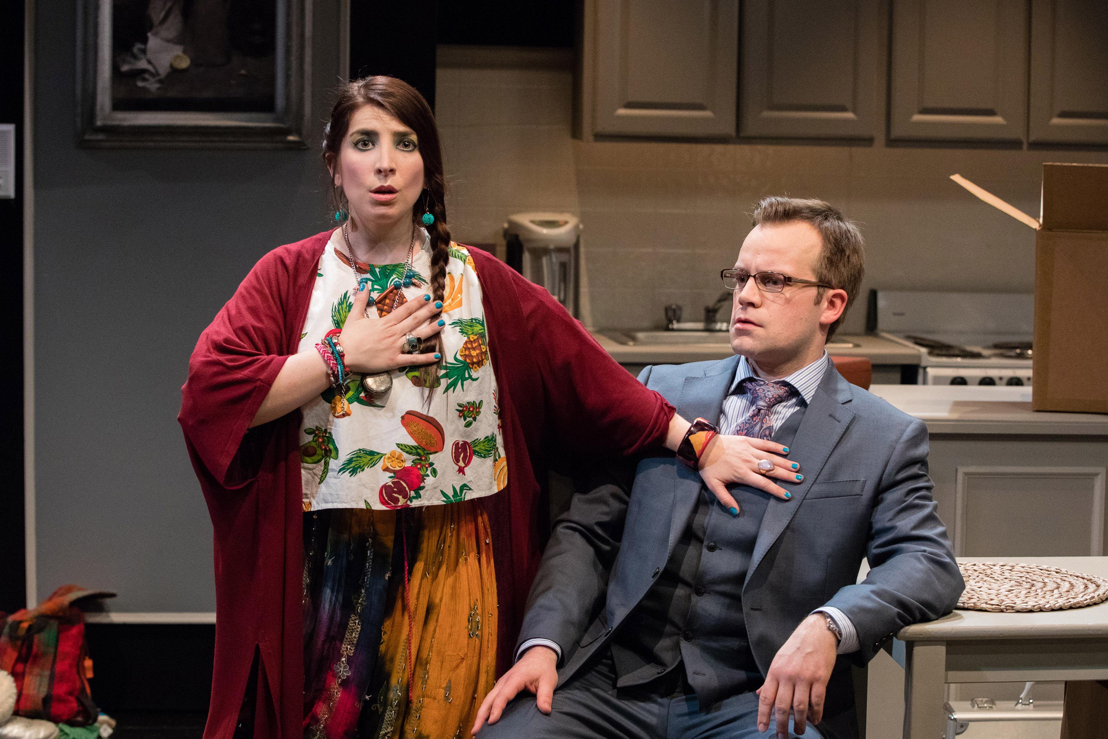Anel Carmona, en una de sus actuaciones dentro de la obra Adiós Fjord del circuito Off-Broadway.