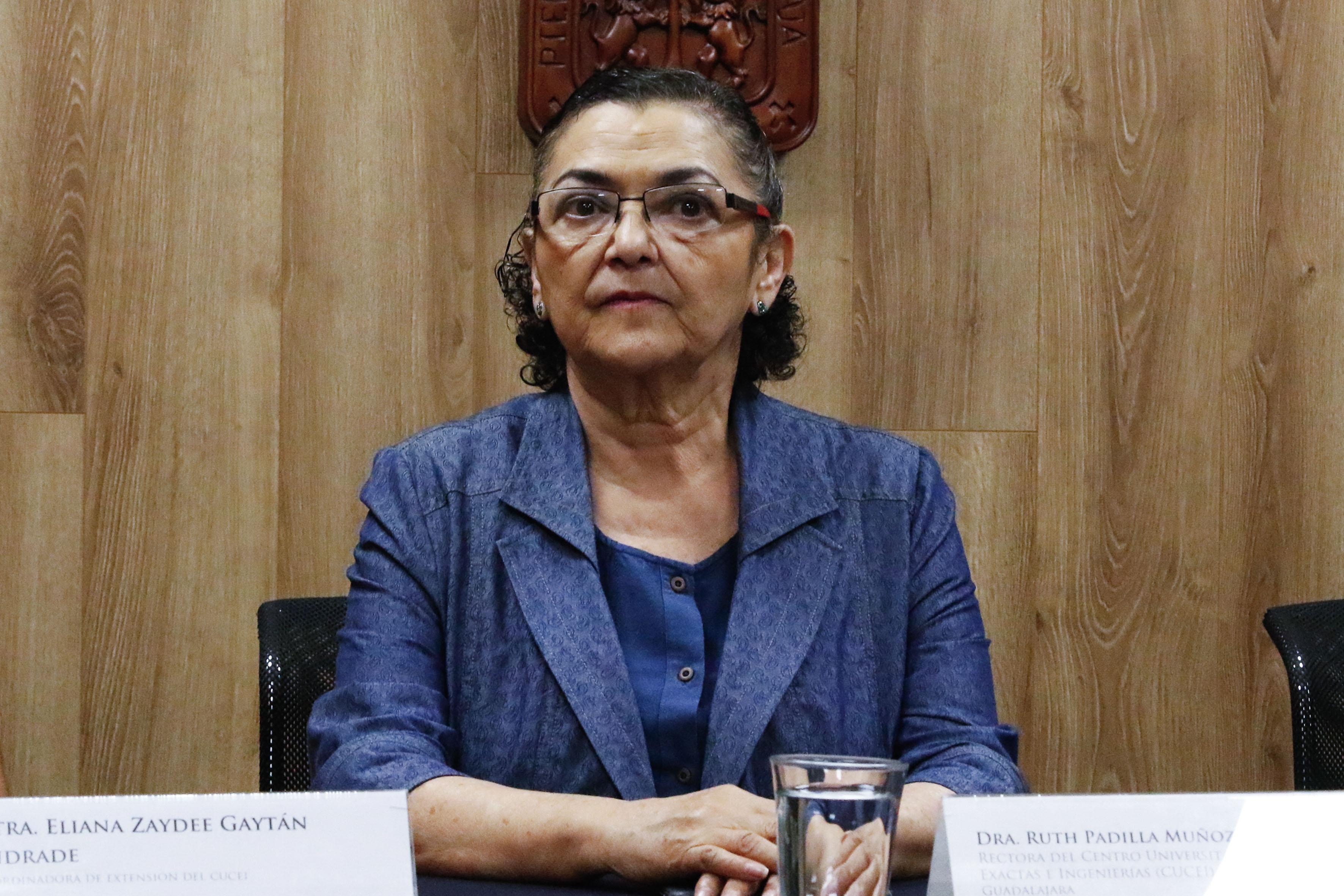 Doctora Ruth Padilla Muñoz, Rectora del CUCEI.