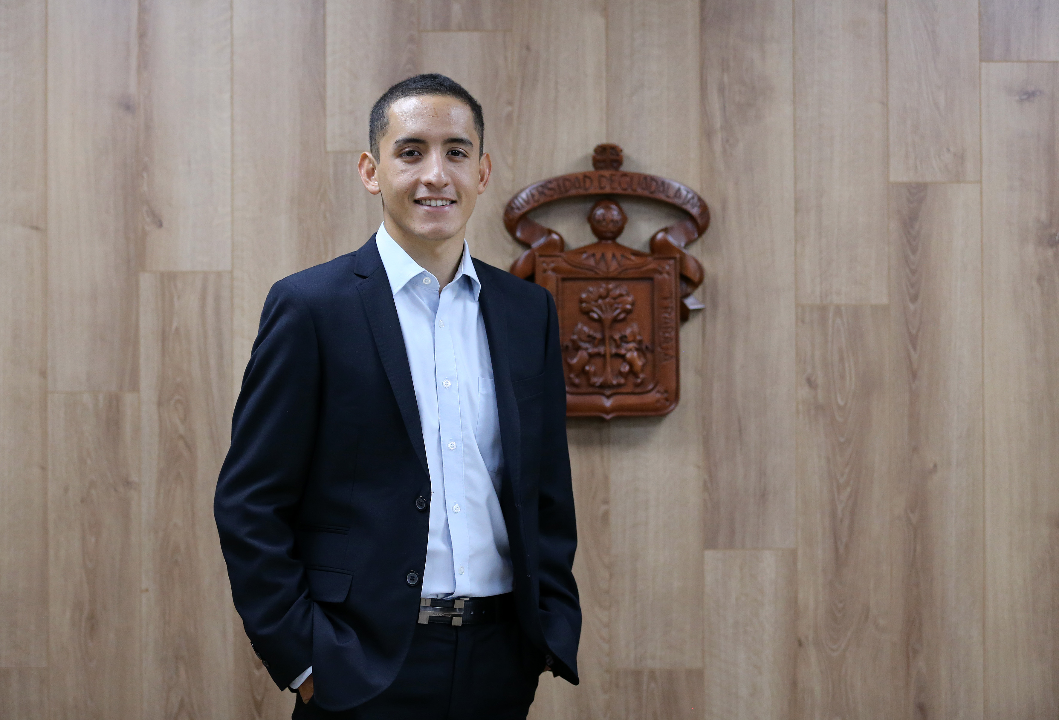 José Abraham Estrada Sierra, estudiante de Ingeniería Bioquímica en el CUCEI.